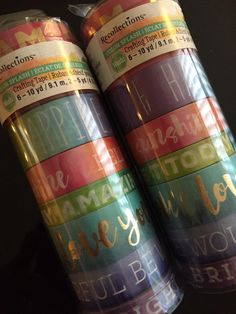 2 Sets Recollections Color Splash Collection Washi Planner Crafting Tape Tubes. 16 rolls by StationeryGirl604 on Etsy https://www.etsy.com/ca/listing/277088548/2-sets-recollections-color-splash { Popular Washi set from Michael's}