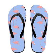 QR FUNK Unisex Flamingos In Purple Summer Fashion Flip Fl...
