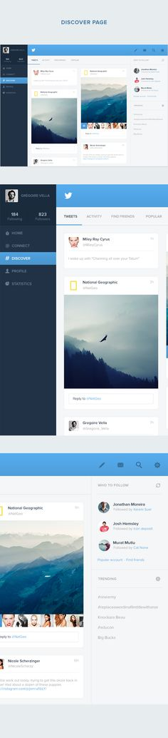 Twitter - Redesign of UI details by Grégoire Vella, via Behance