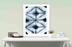 A gorgeous shibori inspired giclee art print, from my original watercolour painting. Its the perfect style for a modern boho pad, or scandi style room, and looks amazing with lots of timber, white, and grey. The soft bleeds and blends lend a textural feel to your walls.   ✖️ Title: Repetition ✖️ Media: Archival Giclee Print (Pigment Inks on gallery Cotton Rag heavy weight paper)  SIZES:  A5 - 14.8cm x 21cm (5.8 x 8.3)  A4 - 21cm x 29.7cm (8.3 x 11.7)  A3 - 29.7cm x 42cm (11.7 x 16.5)  A2…