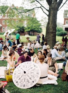 This would make a beautiful wedding theme. [lingered upon: Governors Island | Jazz Age Lawn Fest]