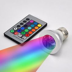 Magic Lighting LED Strobe Light & Remote With 16 Different Colors & 5 Modes!!