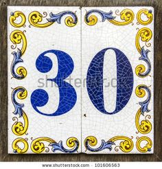 ceramic house number tiles - Google Search