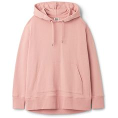 Lynn Hoodie ❤ liked on Polyvore featuring tops, hoodies, sweaters, jumpers/hoodies, jackets, oversized hoodie, drop shoulder tops, pink hoodie, hooded sweatshirt and oversized hoodies