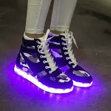 668a49b1514 Shoe N Tale 7 Colors LED light shoes High Top Sports Fashion Sneakers for  women Light Up Shoes with led