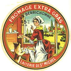 Vintage Labels, Vintage Ads, Vintage Posters, Crazy Cat Lady, Crazy Cats, Organic Vodka, Packaging World, Cheese Packaging, French Cheese