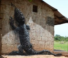 unurth | street art-- if it were green, it'd look like my Iguana! :)