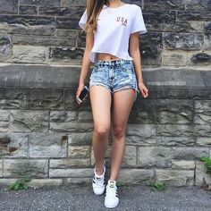Discover and organize outfit ideas for your clothes. Decide your daily outfit with your wardrobe clothes, and discover the most inspiring personal style Cute Casual Outfits, Cute Summer Outfits, Spring Outfits, Teenage Outfits, Girl Outfits, Fashion Outfits, Teen Fashion, Womens Fashion, Outfit Goals