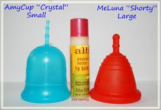 """AmyCup """"Crystal"""" Small vs MeLuna """"Shorty"""" Large"""