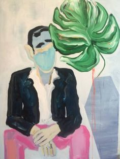 "Saatchi Art Artist Erin Armstrong; Painting, ""Bradley and Palm"" #art"