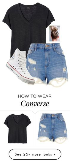"""Over"" by river-rain-water on Polyvore featuring Deby Debo, River Island and Converse"