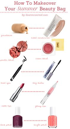 How to makeover your beauty bag for summer {tips from Lauren Conrad} #beauty