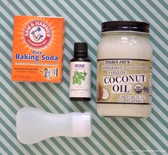 You need 3 all natural ingredients: coconut oil, baking soda, and peppermint essential oil to make your very own Squeezable Homemade Toothpaste, that's fluoride free.