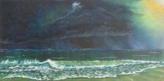 Image of Where the storm meets the sea  #StIves #Acrylic #Cornwall