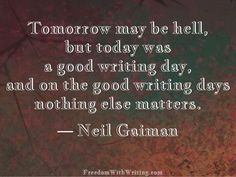 Neil Gaiman Lovely and true- though not exactly conducive to my continued struggle to be a functional adult.