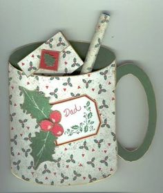 Christmas Mug Card Template by krikee - Cards and Paper Crafts at Splitcoaststampers