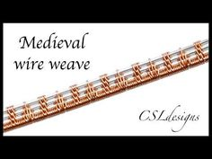(857) Medieval wire weave ⎮ Wire weaving series - YouTube