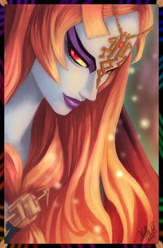 The Legend of Zelda: Twilight Princess, Midna / Princess of Twilight by StellaB on deviantART