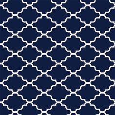 Showcasing a classic lattice motif in navy and white tones, this peel-and-stick wallpaper square brings regrets-free style to any room. Make a bold statement...