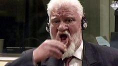 Croata toma um líquido no tribunal de Haia
