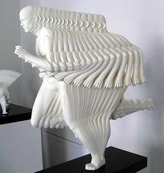 """Runner"", Motion Sculpture by Peter Jansen Instalation Art, Principles Of Design, 3d Prints, Art Moderne, Art Plastique, Oeuvre D'art, Amazing Art, Amazing Things, Sculpting"