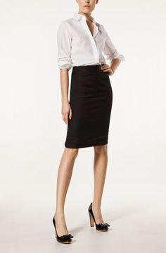 uniformes ejecutivos · FALDA DE TRAJE NEGRA - Faldas - WOMEN - WOMEN -  España Traje Negro c709fc3fd59b