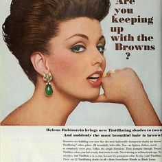 PinMeUp Salon Is in love with the vintage ads!  Browns don't have to be boring. Wake them up with a new shade or a blend of shades.