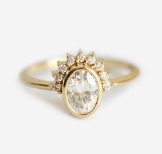 Diamond Ring Diamond Engagement Ring Oval Diamond Ring Oval