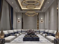 Ceiling Design Living Room, Home Design Living Room, Elegant Living Room, Arabic Decor, Luxury Interior Design, Luxurious Bedrooms, My New Room, House Rooms, House Design