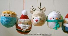 CHECK THIS SITE - she has the cutest gingerbread couple ornaments - she has an English version of the pattern - you simply must check these out - too cute to pass up ~ Christmas, Amigurumi, Milan Crochet Christmas Decorations, Crochet Decoration, Crochet Christmas Ornaments, Christmas Crochet Patterns, Holiday Crochet, Easy Christmas Crafts, Crochet Toys Patterns, Christmas Knitting, Crochet Designs