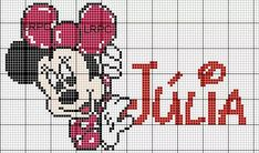 Mickey Y Minnie, Disney Mickey, Mickey Mouse Characters, Diy Advent Calendar, Crochet Chart, Cross Stitch Charts, Looney Tunes, Beading Patterns, Minne
