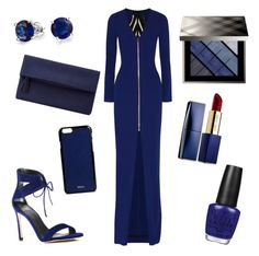 """""""blue outfit premiere"""" by alexia7528 on Polyvore featuring Roland Mouret, Stuart Weitzman, John Lewis, Bling Jewelry, OPI, Estée Lauder, Valextra and Burberry"""