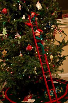 Elf Trickery: Special Ladder! TO THE TOP! Retro Christmas, Christmas Elf, Christmas Ideas, Christmas Crafts, Christmas Decorations, Xmas, Holiday Decor, Craft Ideas, Decor Ideas