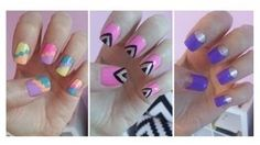 Easy Nail Art For Beginners!!!, via YouTube. First for sure