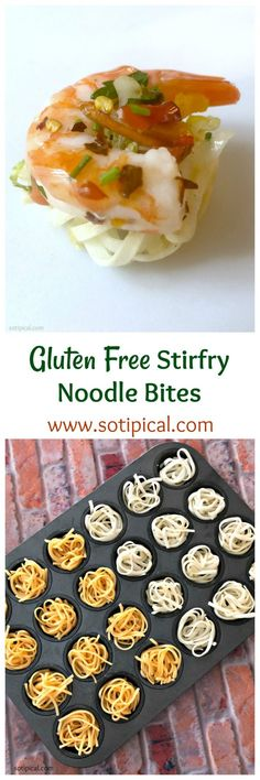 Imagine this - yummy stirfry and Asian noodles in a one bite appetizer! It is a gluten free recipe! Yes, I'm using gluten free noodles! One Bite Appetizers, Gluten Free Noodles, Taiwanese Cuisine, Taiwan Food, Asian Recipes, Ethnic Recipes, Asian Noodles, Food Challenge, Molecular Gastronomy