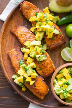 http://lovelylittlekitchen.com/chili-lime-salmon-with-avocado-mango-salsa/