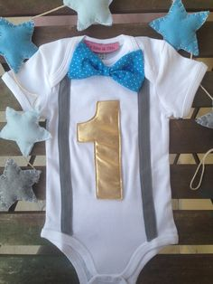 Boys First Birthday Outfit Baby Boy Clothes by LaTanaDiOtto