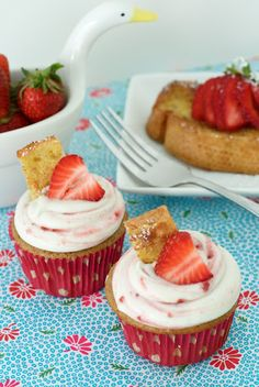 Stuffed French Toast Cupcakes