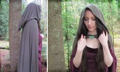 Another pinned said: LOTR Cloak inspired by the movies. This woman has an amazing website! What I say: I happen to know ' this woman', very well. She is awesome! Go 'Brielle' ;)
