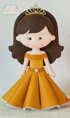 Princesa Felt Crafts Kids, Felt Crafts Dolls, Felt Dolls, Felt Doll Patterns, Felt Animal Patterns, Stuffed Toys Patterns, Diy Xmas Gifts, Dolls And Daydreams, Felt Banner