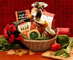 Let's Spice It Up! Salsa Gift Basket - http://spicegrinder.biz/lets-spice-it-up-salsa-gift-basket/