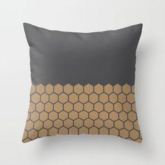9 colours, Hexagon Honeycomb Half Pattern Decorative Pillow Cover, Geometric…