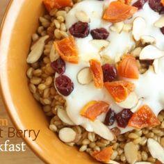 Warm Wheat Berry Breakfast