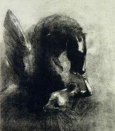 ODILON REDON * 1840-1916 * French * painter and pastelist ** Pegasus