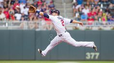 Brian Dozier with a leaping catch Blog | Rempel Design & Photo | Professional Sports Photography and Web Design