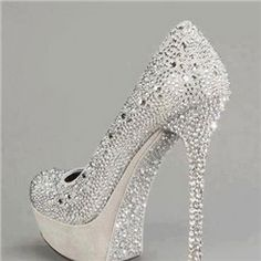 New Arrival Luxurious Rhinestone Decoration High Heel Shoes