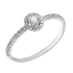Prsten značky AVRO DIAMONDS s bíleho zlata a s diamanty 1ks 0,10 karat a 33ks po 0,15 karat