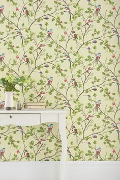 Buy Bird Menagerie Natural Wallpaper from the Next UK online shop
