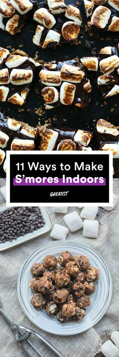 """Because we're not all """"outdoor people."""" http://greatist.com/eat/smores-recipes-to-make-indoors"""