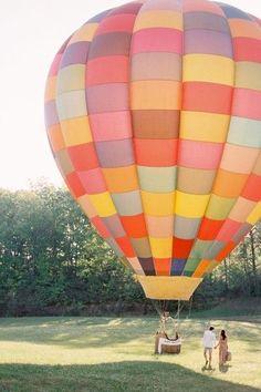 hot air balloon maternity photo shoot - Google Search